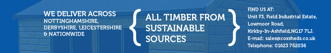 Sustainable Timber Sheds Nottinghamshire, Lincolnshire